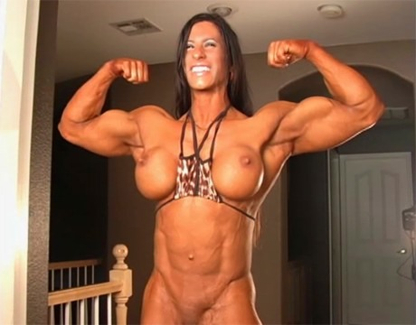 Sexy Female Bodybuilder huge muscles and massive clit from wonderful katie morgan