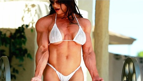 beach heavenly Muscular on goddess