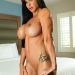 Busty sexy brunette Goddess with strong muscles from wonderful katie morgan