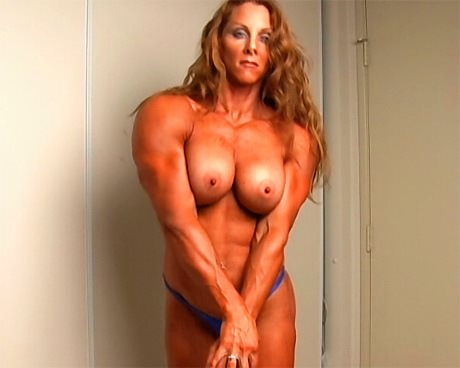 Sexy Female Bodybuilder flexing her ripped muscles in bikini from wonderful katie morgan