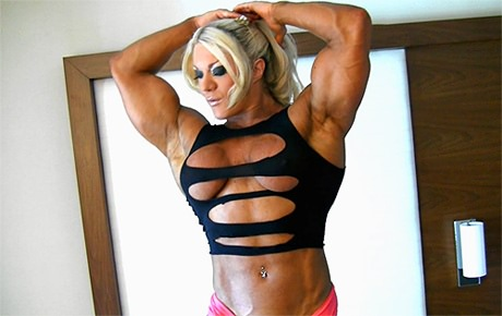 Sexy Female Bodybuilder flexing her huge muscles from wonderful katie morgan