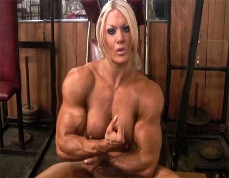 Sexy Female Bodybuilder GYM Masturbation from wonderful katie morgan