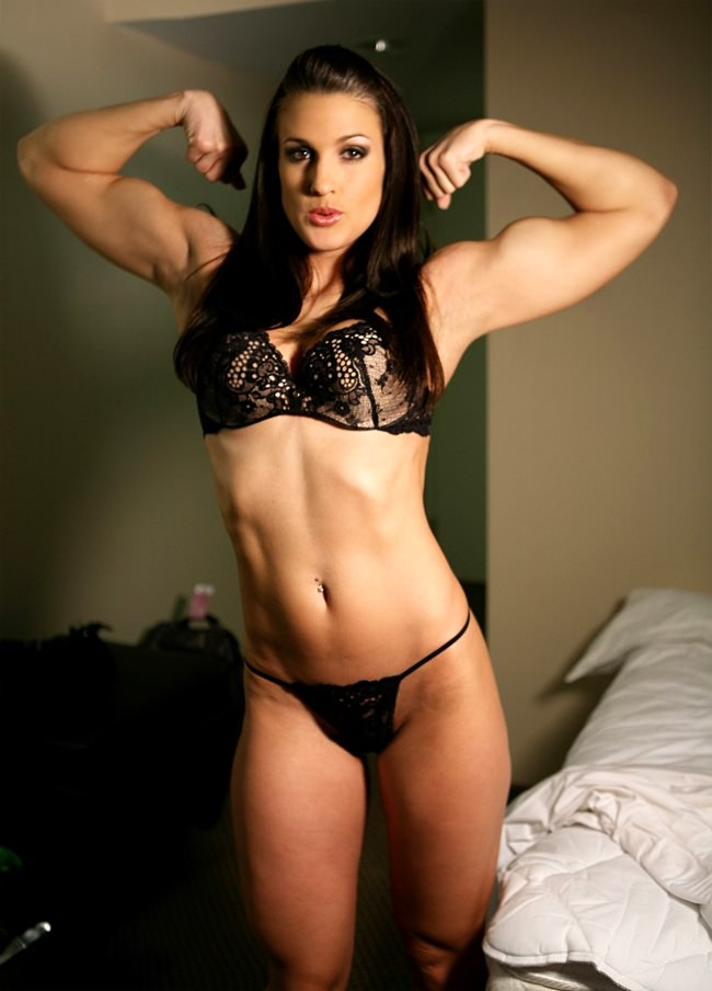 sexy fitness babe misty anderson strip tease posing