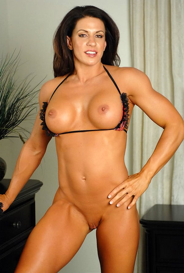Very hot bodybuilder pounds sexy busty babe with creampie